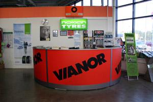 Интерьер шинного центра VIANOR на Выборгском шоссе, 214а