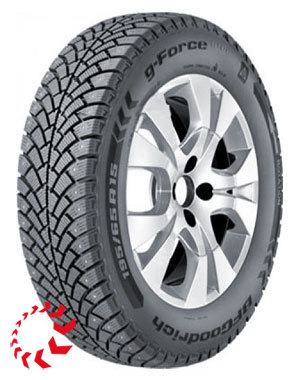 шина B.F.GOODRICH G-Force Stud  175/70 R13 82Q. Зима.