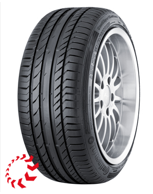 шина CONTINENTAL ContiSportContact 5  255/40 R18 95Y RunFlat. Лето.